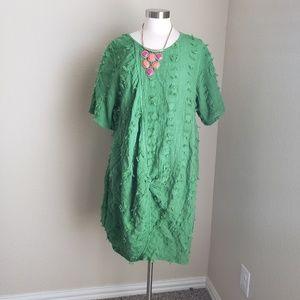 cheyenne linen dress ruched details lagenlook